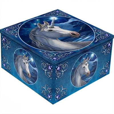 Unicorn Mirror Box Blue